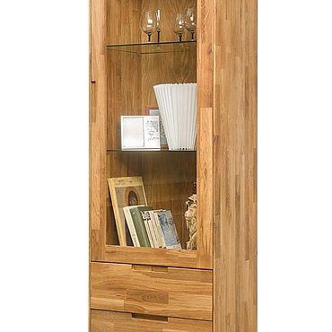 Для дома и интерьера ручной работы. Ярмарка Мастеров - ручная работа Шкаф с витриной Сканди-1 из массива дуба. Handmade.