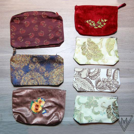 Женские сумки ручной работы. Ярмарка Мастеров - ручная работа. Купить Косметички. Handmade. Разноцветный, Сумки, вышивка, Машинная вышивка