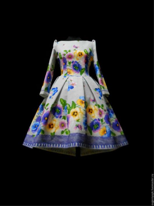 """Платья ручной работы. Ярмарка Мастеров - ручная работа. Купить Платье """"Прикосновение""""!. Handmade. Комбинированный, Платье нарядное, фатин"""