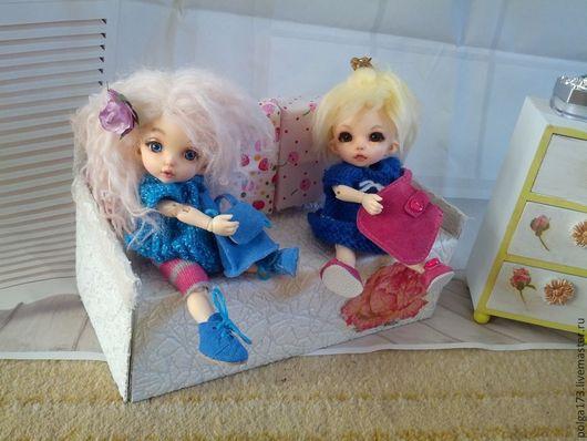Одежда для кукол ручной работы. Ярмарка Мастеров - ручная работа. Купить Ботиночки для малышек БЖДшек. Handmade. Голубой, одежда для кукол