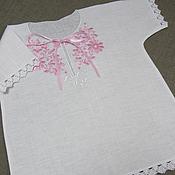 Работы для детей, handmade. Livemaster - original item Baptismal shirt for girls. art. 002. Handmade.