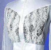 Блузки ручной работы. Ярмарка Мастеров - ручная работа Блузка Белая Сакура. Handmade.