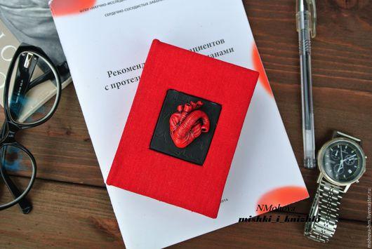 Блокноты ручной работы. Ярмарка Мастеров - ручная работа. Купить Блокнот Анатомическое сердце. Handmade. Ярко-красный, блокнот в подарок