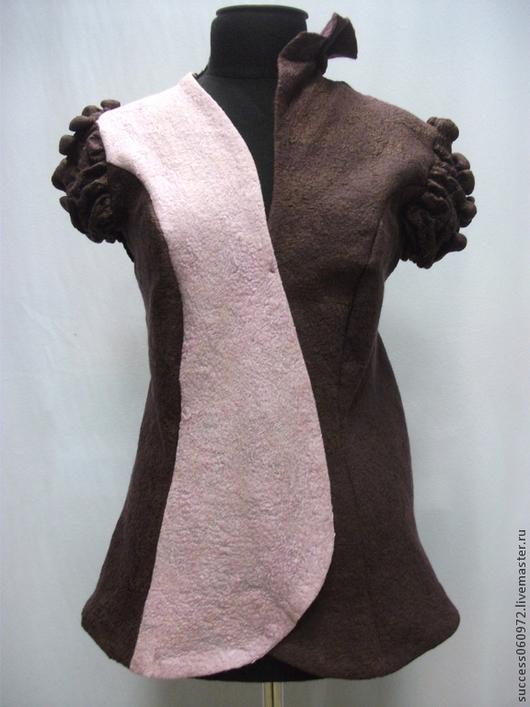 """Пиджаки, жакеты ручной работы. Ярмарка Мастеров - ручная работа. Купить Жакет """"Инь и Янь"""". Handmade. Жакет женский, жилет"""