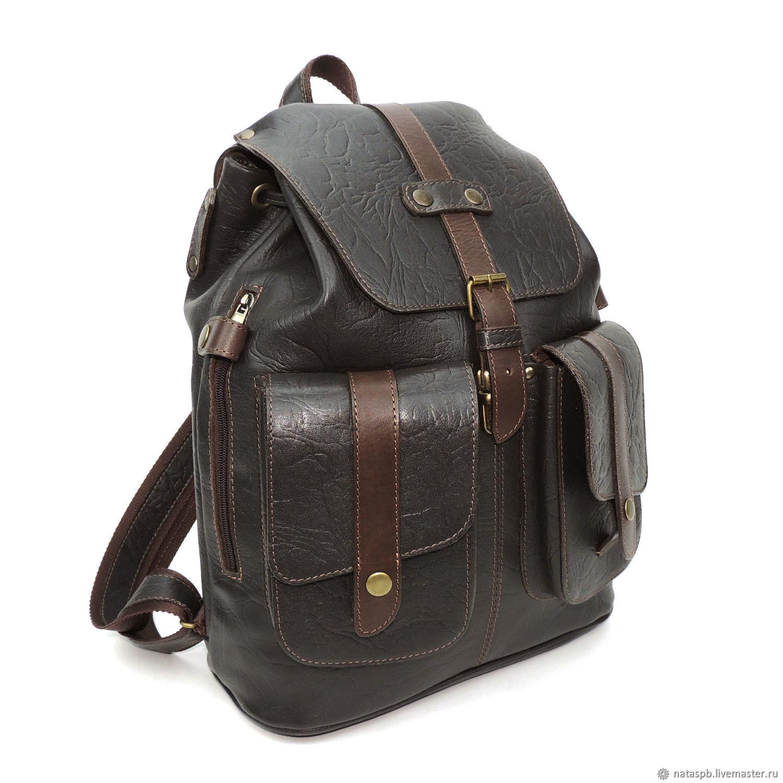 3e4c43e25f08 ... buy Backpacks handmade. Backpack men s brown leather Legionnaire.  Natalia Kalinovskaya.