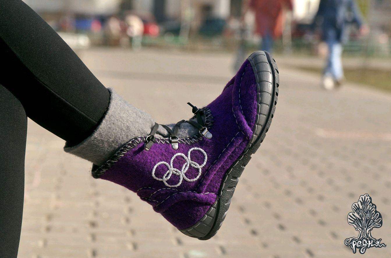 Ботиночки фиолетовые, Ботинки, Москва,  Фото №1