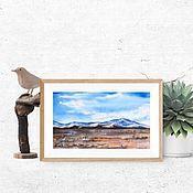 Картины и панно handmade. Livemaster - original item Painting mountains watercolor Landscape watercolor. Handmade.