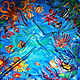 """Шали, палантины ручной работы. Ярмарка Мастеров - ручная работа. Купить Шелковый платок-батик """"Подводный мир"""". Handmade. Батик"""