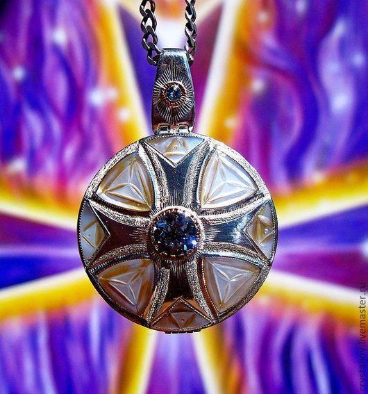 """Кулоны, подвески ручной работы. Ярмарка Мастеров - ручная работа. Купить """"Чистый Импульс Мальтийского Креста"""". Handmade. Голубой, подарок"""