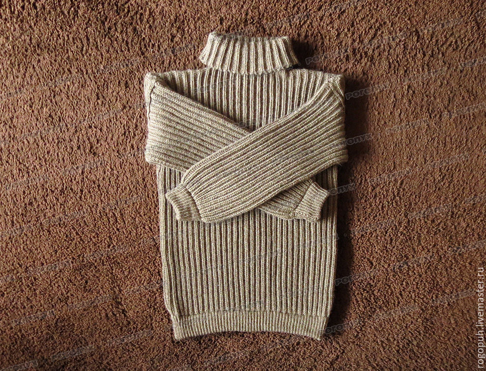 Sweater fleece with a collar, brown (No. №2), Sweaters, Nalchik,  Фото №1