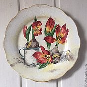 Посуда ручной работы. Ярмарка Мастеров - ручная работа Настенная тарелка Мона Свард -№2. Handmade.