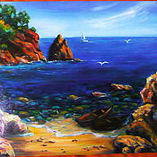 Картины и панно handmade. Livemaster - original item The sea shore of the southern seas. Handmade.