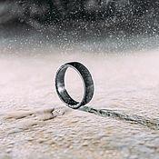 Кольца ручной работы. Ярмарка Мастеров - ручная работа Титановое кольцо чёрное. Handmade.