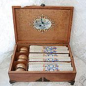 Для дома и интерьера handmade. Livemaster - original item Box with monogrammed napkins - wedding gift. Handmade.