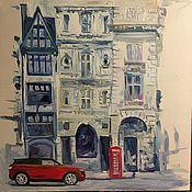 Картины и панно ручной работы. Ярмарка Мастеров - ручная работа Английская улица. Handmade.