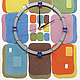 """Часы для дома ручной работы. Ярмарка Мастеров - ручная работа. Купить """"ЛОСКУТКИ""""из песка авторские часы. Handmade. Голубой, розовый"""