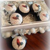 """Подарки к праздникам ручной работы. Ярмарка Мастеров - ручная работа Набор игрушек """" Петушки в серебре"""". Handmade."""