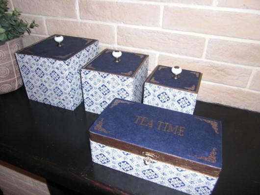 """Кухня ручной работы. Ярмарка Мастеров - ручная работа. Купить ! Набор для кухни """"Кобальт"""". Handmade. Синий, кухонный набор"""