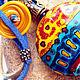 """Кулоны, подвески ручной работы. Ярмарка Мастеров - ручная работа. Купить Кулон """"Дорога в Акапулько"""". Лэмпворк. Handmade. Бирюзовый, оранжевый"""