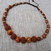 Украшения handmade. Livemaster - original item JOY is the author`s braided necklace with beads of fire agate. Handmade.