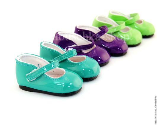 Куклы и игрушки ручной работы. Ярмарка Мастеров - ручная работа. Купить Обувь для куклы. Туфли лакированные - 6,5 см. 3 цвета.. Handmade.