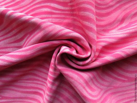 Замша натуральная. Розовая зебра. 77 кв.дм, толщина 1,3 мм. Елена (7businka).