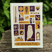 """Обложки ручной работы. Ярмарка Мастеров - ручная работа Кожаная обложка на паспорт """"Гарри Поттер"""" белая сова. Handmade."""