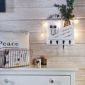 Для дома и интерьера handmade. Livemaster - original item White wall-mounted housekeeper. Handmade.