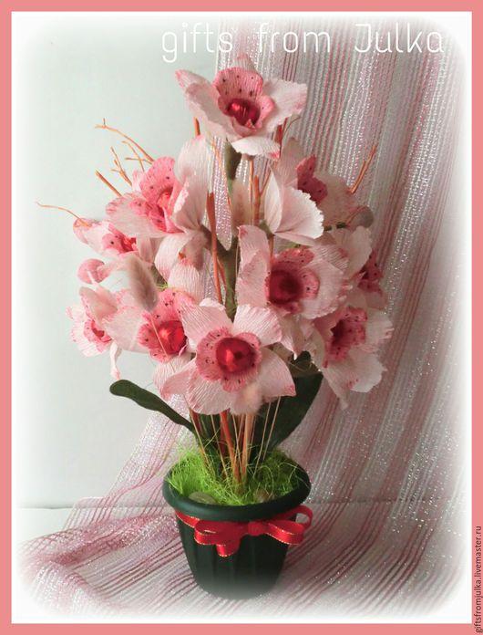 """Букеты ручной работы. Ярмарка Мастеров - ручная работа. Купить Букет из конфет """" Орхидея"""". Handmade. Комбинированный, сладкий подарок"""