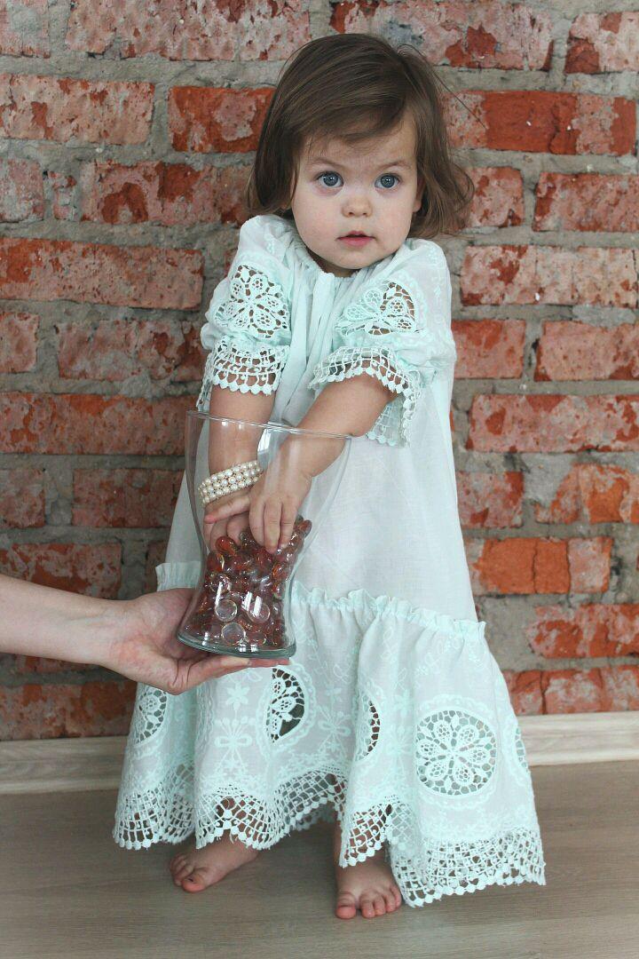 """Платье для малышки из набора фэмили лук""""Menta Mamma"""", Платья, Москва,  Фото №1"""