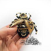 Украшения handmade. Livemaster - original item Golden bee. Brooch. Handmade.