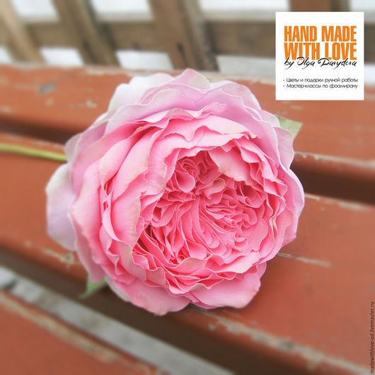 Цветы ручной работы. Ярмарка Мастеров - ручная работа. Купить МК пионовидная роза Дэвида Остина из фоамирана.. Handmade. Комбинированный