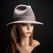 Аксессуары ручной работы. Ярмарка Мастеров - ручная работа Фетровая шляпа Трилби. Handmade.