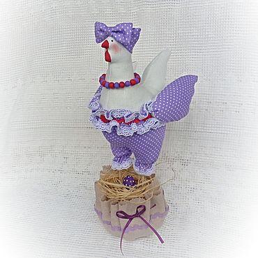 Куклы и игрушки ручной работы. Ярмарка Мастеров - ручная работа Пасхальная курочка в стиле тильда Нежная сирень. Handmade.