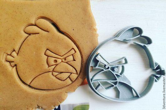 Кухня ручной работы. Ярмарка Мастеров - ручная работа. Купить Форма для печенья Злая птичка. Handmade. Разноцветный, формочка для печенья
