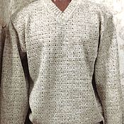 Одежда handmade. Livemaster - original item Jumper of 100%linen yarn