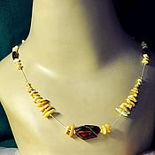 Украшения handmade. Livemaster - original item amber. Necklace