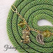 Украшения handmade. Livemaster - original item Lariat long Owl forest decoration. Handmade.