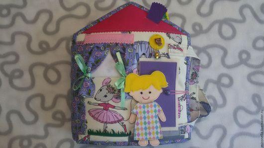 Кукольный дом ручной работы. Ярмарка Мастеров - ручная работа. Купить Кукольный домик. Развивающая мягкая книжка. Handmade. Комбинированный