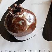 Для дома и интерьера ручной работы. Ярмарка Мастеров - ручная работа керамический гранат Медное золото. Handmade.