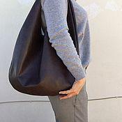 Сумка-мешок ручной работы. Ярмарка Мастеров - ручная работа Кожаная сумка круглая, сумка мешок-пакет, хобо стиль сумка мешок. Handmade.