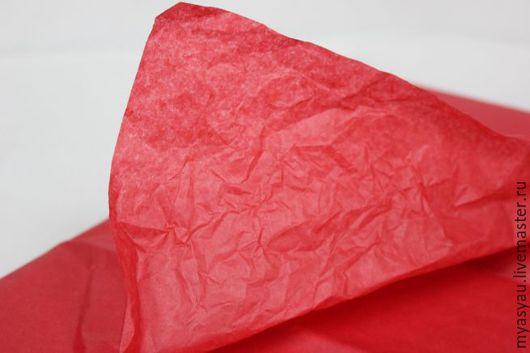 Упаковка ручной работы. Ярмарка Мастеров - ручная работа. Купить Бумага упаковочная тишью красная 50 х 75 см. Handmade.