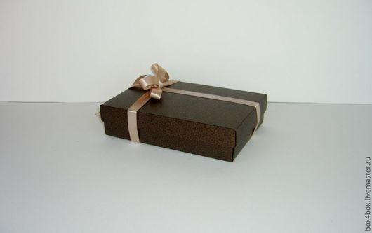Подарочная упаковка ручной работы. Ярмарка Мастеров - ручная работа. Купить Коробка крышка-дно. Handmade. Коричневый, подарочная коробочка