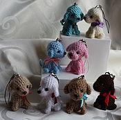 Куклы и игрушки ручной работы. Ярмарка Мастеров - ручная работа Вязаные собачки (символ 2018г). Handmade.