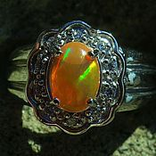 Украшения handmade. Livemaster - original item Magnificent silver ring with Mexican opal. Handmade.