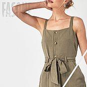 Одежда handmade. Livemaster - original item Dress-sundress khaki