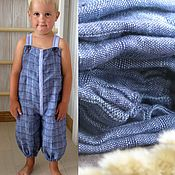 Работы для детей, handmade. Livemaster - original item Overalls: linen overalls for the boy. Handmade.