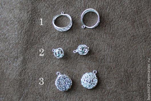 Подвеска, цвет - светлое серебро. Фурнитура для создания украшений. Busimir
