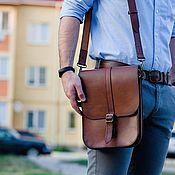 Сумки и аксессуары handmade. Livemaster - original item Leather men`s bag-Cayman tablet. Handmade.