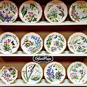 Посуда handmade. Livemaster - original item The painted porcelain.Plate porcelain Country history. Handmade.